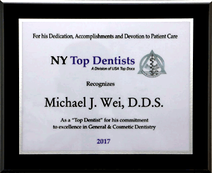 2017 New York Top Dentist Award
