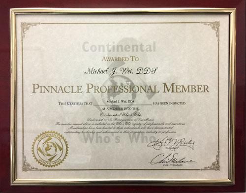 Continental-Who's-Who-Award