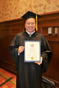 Mike Wei with Cosmetic Dentist Fellowship Award