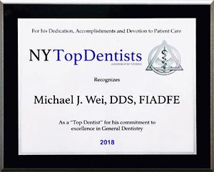 New York Top Dentists Award - 2018