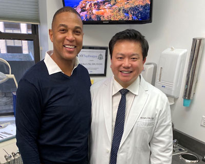 Don Lemon of CNN and Dr. Michael J Wei, DDS 400x320