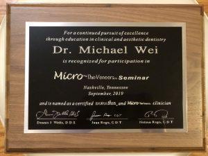 Microthin Veneers Plaque